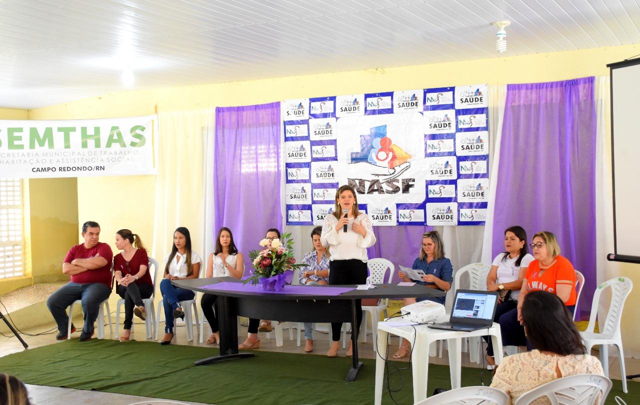Prefeitura de Campo Redondo promove palestra para mulheres na Campanha Agosto Lilás