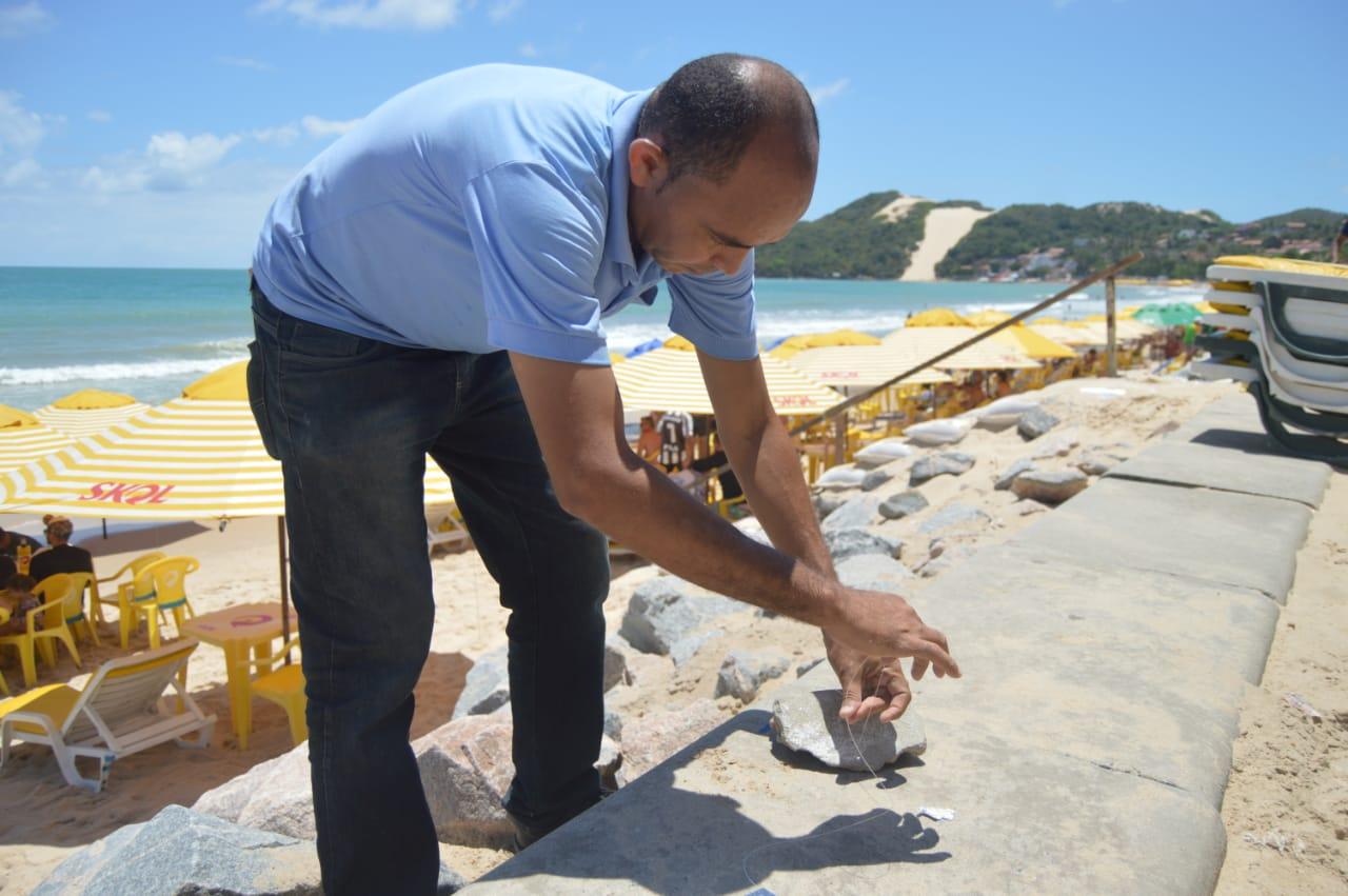 Natal: Centro de Controle de Zoonoses realiza ação de desratização na orla de Ponta Negra