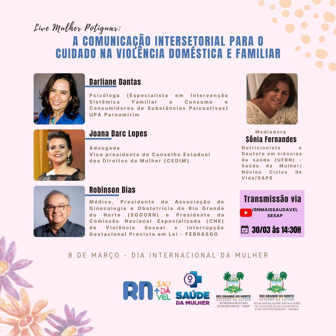Live realizada pela Sesap debaterá a comunicação intersetorial para o cuidado na violência doméstica e familiar