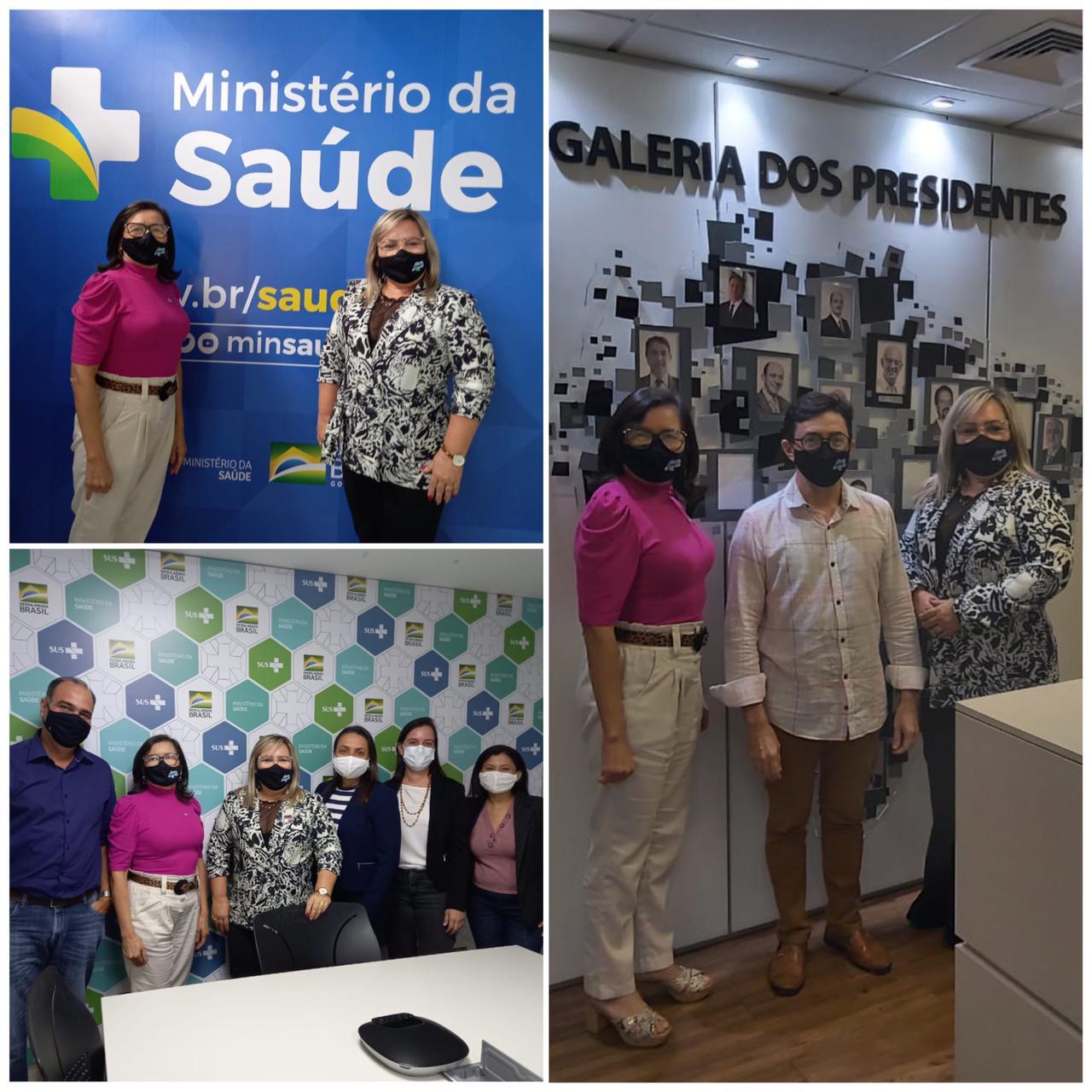 Durante agenda em Brasília, presidente e vice do Cosems buscam viabilizar curso e levam demandas de gestores ao Ministério Saúde