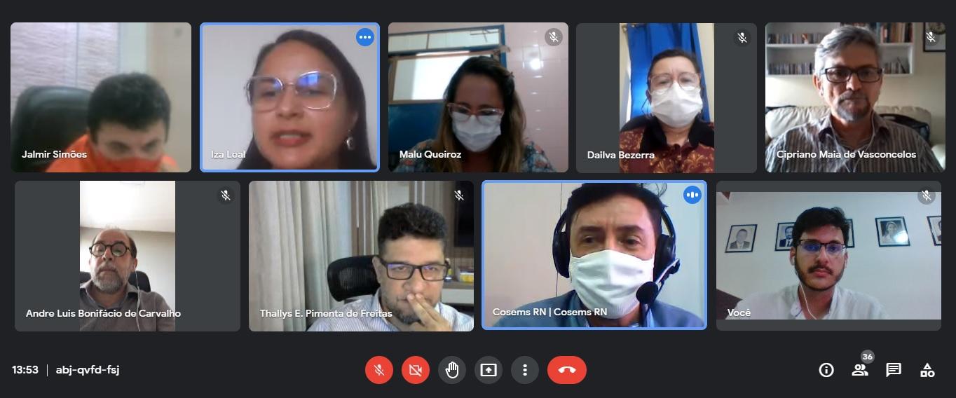 Cosems, Sesap e secretários de saúde voltam a debater modelo de Consórcio Interfederativo de Saúde Pública que será implantado no RN