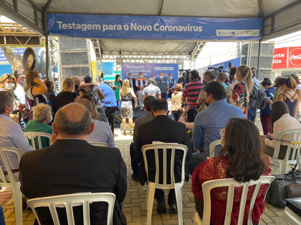 LANÇAMRNTO DE PLANO NACIONAL DE TESTAGEM CONTRA A COFID-19